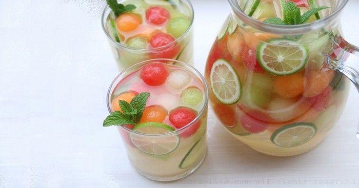 Voici une recette de Sangria melon pour cet été