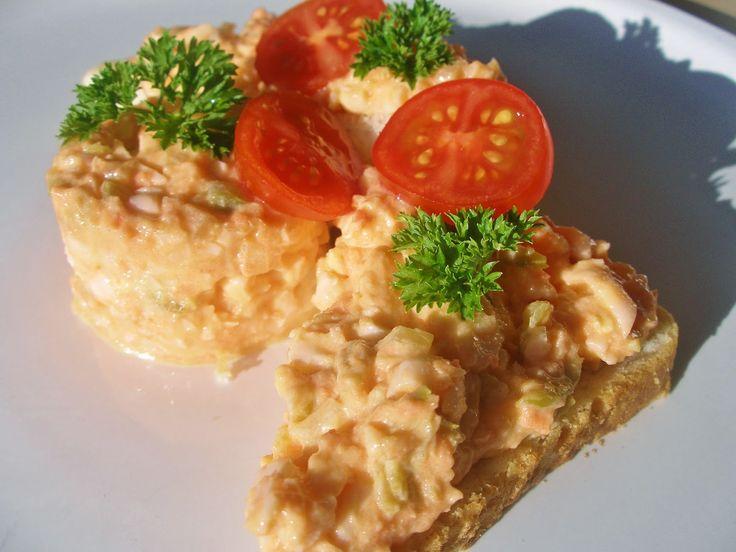 V kuchyni vždy otevřeno ...: Vajíčková pomazánka alla losos