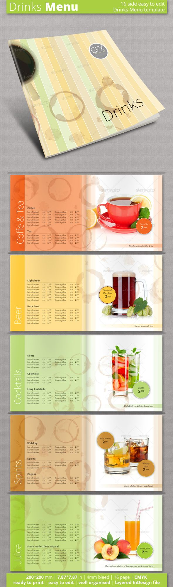 Best Menu Template Images On   Menu Templates Cafe