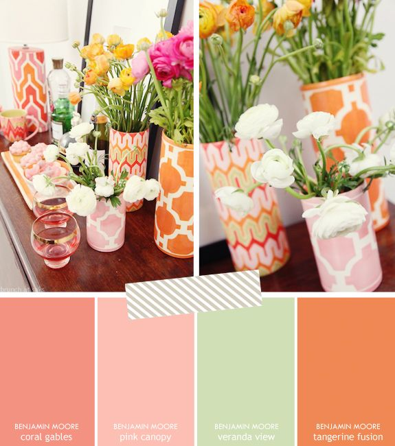 This is a great color scheme for me because it's fun - and I love orange!