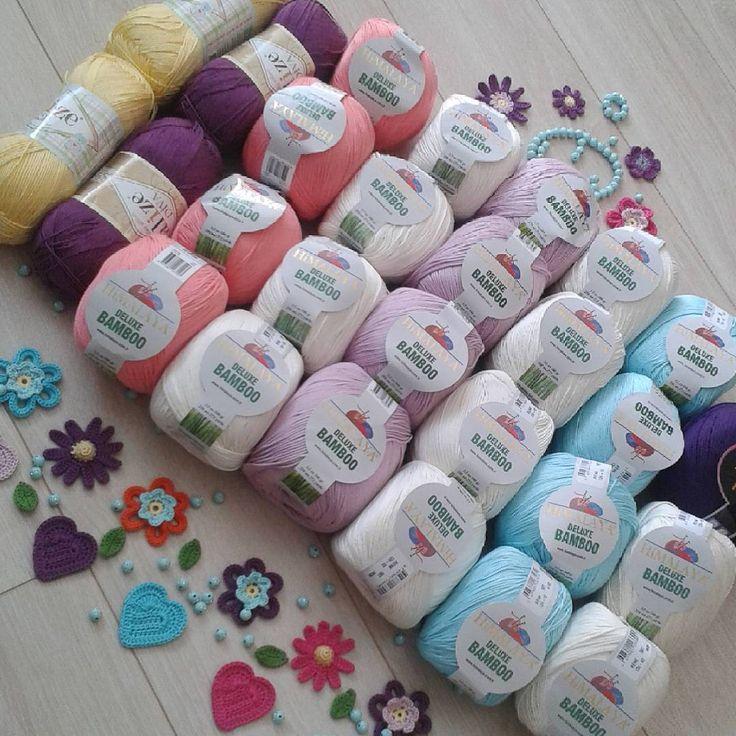 Vee iplerim  @yuncunihat  geldi. Ben çocuklar gibi mutlu.Artık rengarenk kırlentlerimi örebilirim Allahın izniyle Elhamdülillah ala külli halin.  #hobby #çiçek #flowers #colors #colourful #colours #crocheter #crochetlovers #knit #knitting #handmade #crochets #örgümüseviyorum #örgü #elemeği #tığişi #elişi #himalaya #alize #instaknit
