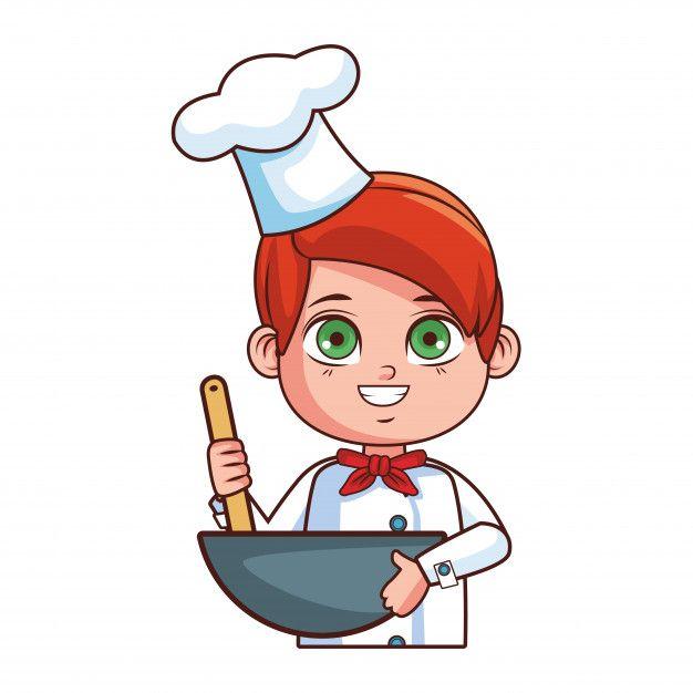 Dibujos Animados De Nino Chef Vector Pre Premium Vector Freepik Vector Comida Ninos Dibujos Animados Ninos Chef Ninos Cocinando