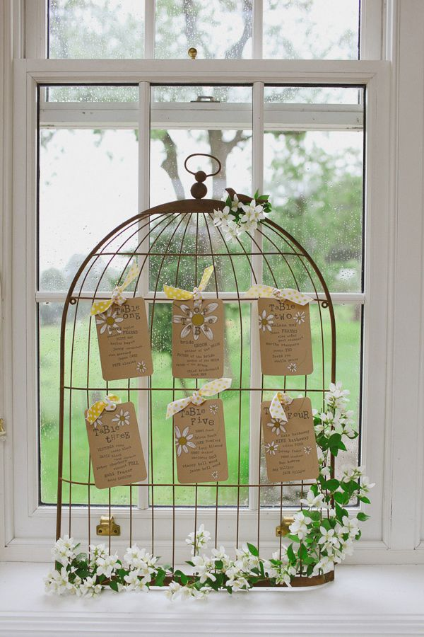 cage seating chart // photo by Jess Petrie // View more: http://ruffledblog.com/summer-of-love-wedding-inspiration/