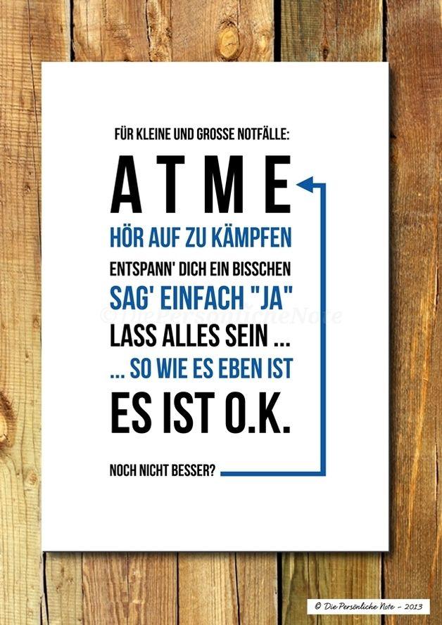 Digitaldruck - Druck/Wandbild/Print: Das Atmen nicht vergessen! - ein Designerstück von DiePersoenlicheNote bei DaWanda