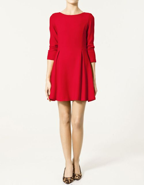 Red tea party dress
