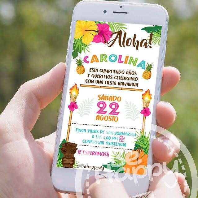 Tarjeta De Invitacion Digital Invitaciones De Fiesta De