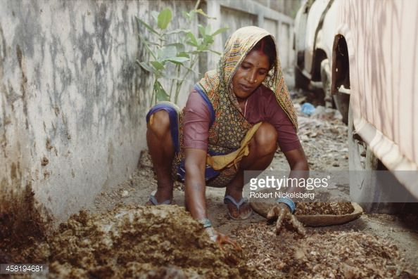 This is an example of poverty in India. India has a class system called a Caste system.  This is a Social stratification based on ascription or birth. Allows little change in position. Example: Born into royalty or a peasant.