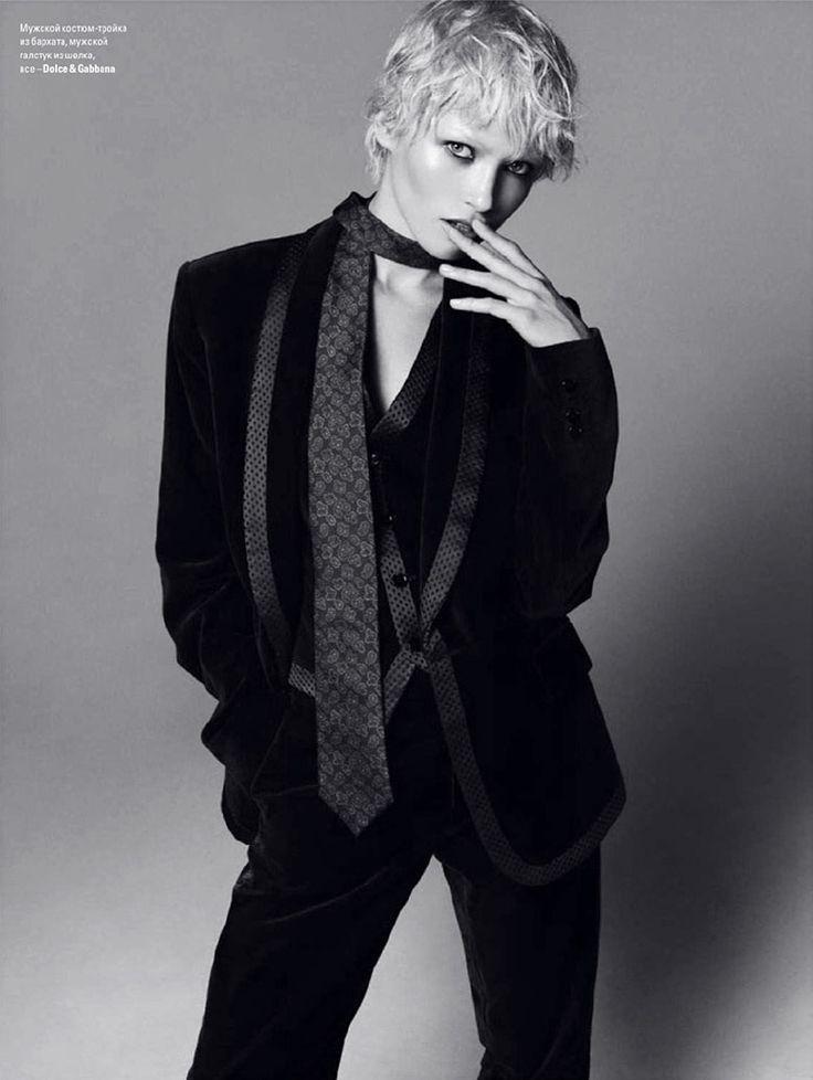 Hana Jirickova for Vogue Ukraine October 2014 | The Fashionography