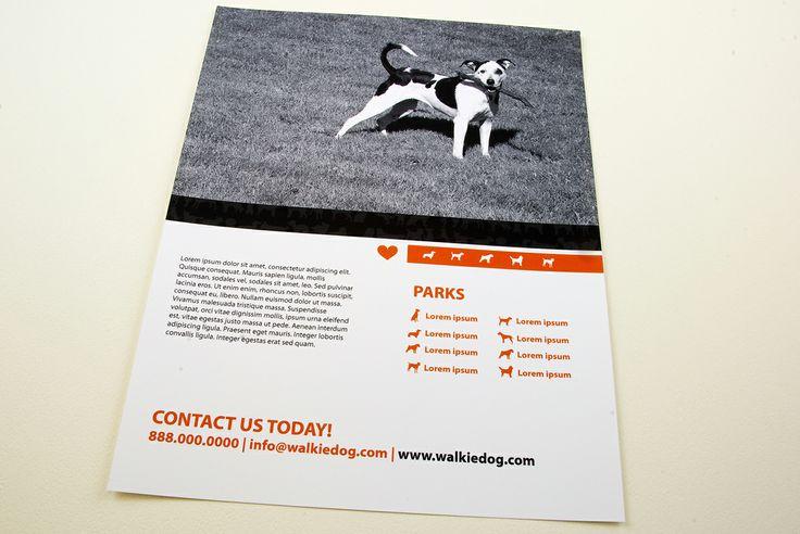 dog walking service flyer template
