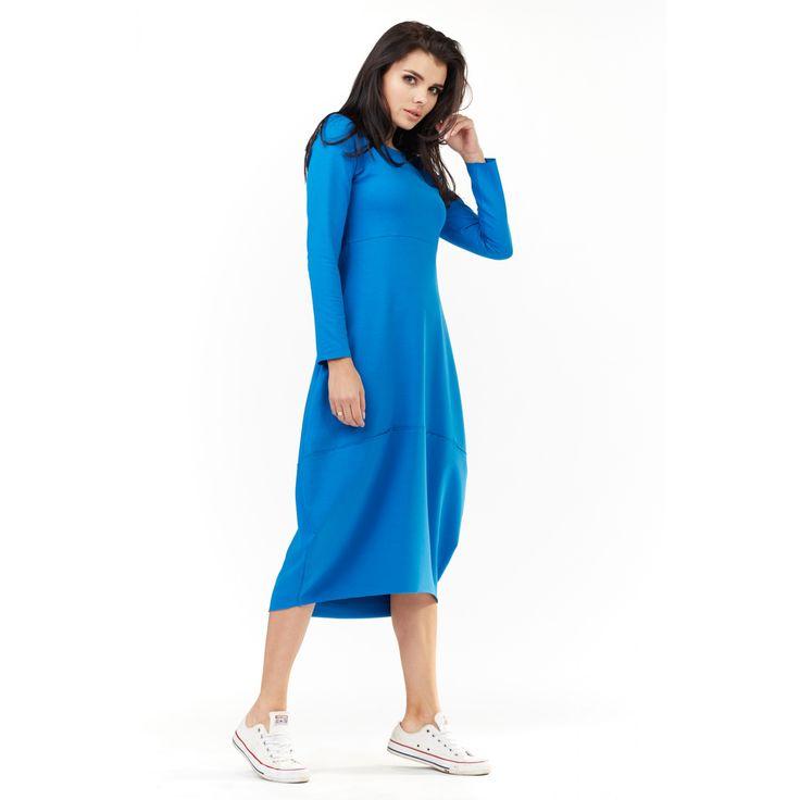 Rochie albastra oversize casual-sport lunga  #rochiisport