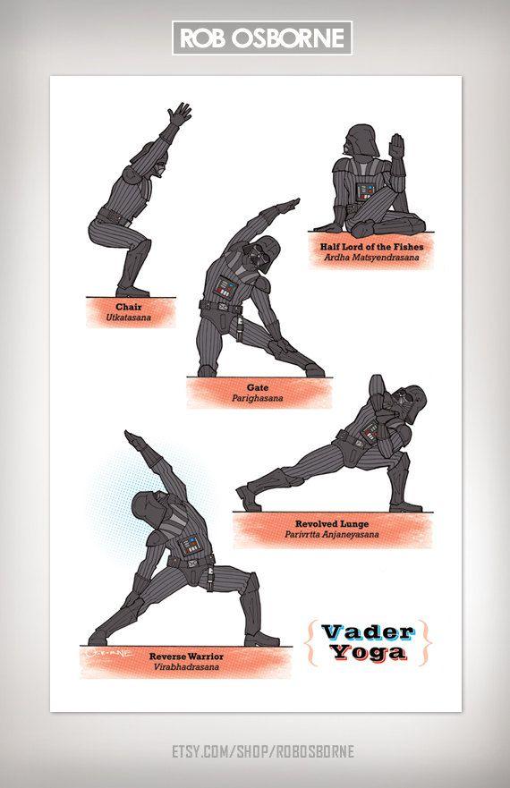 Star Wars Yoga posters by Rob Osborne