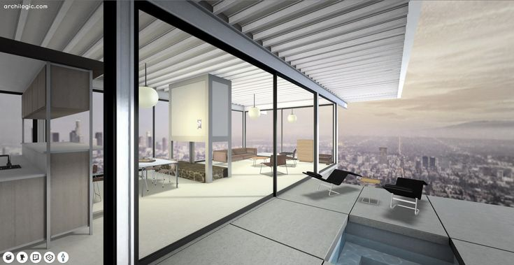 3 d interactive. Without a doubt, it's among the most famous houses in Los Angeles. The house is easy to describe: a steel framed L-plan, divided into bedrooms and...