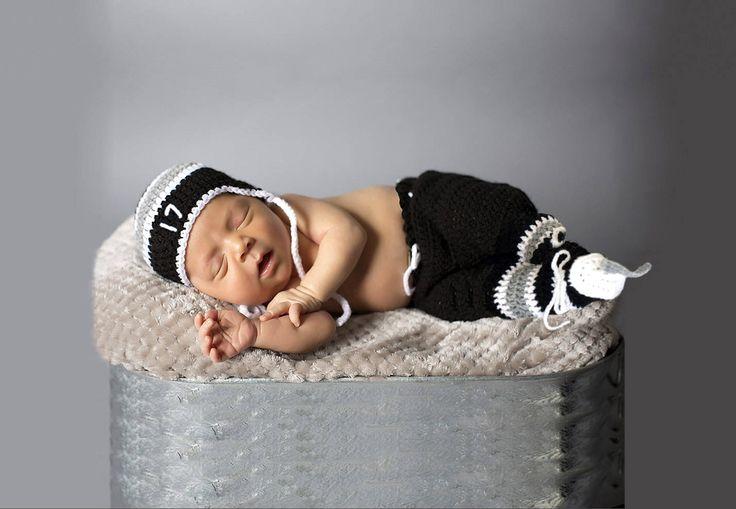 BABY HOCKEY OUTFIT Hockey Baby Crochet, Black Silver Hockey, Black Grey Hockey, Knit Baby Hockey, Crochet Hockey Skates, Knit Baby Boy Hat by Grandmabilt on Etsy