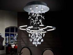 lamparas modernas con abalorios de cristal modelo bruma