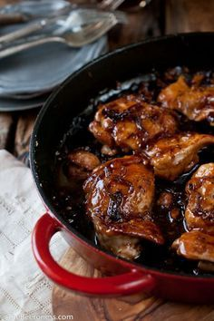 One Pot Honey Chili Beer Chicken is perfect for fall time family dinner!