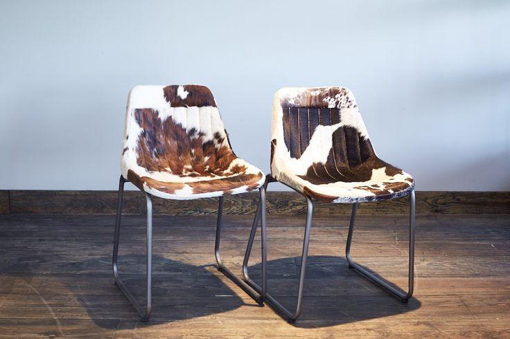 Chaise en peau de vache