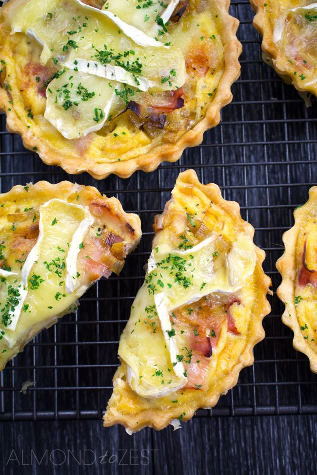 Caramelized Leek, Brie and Ham Quiche