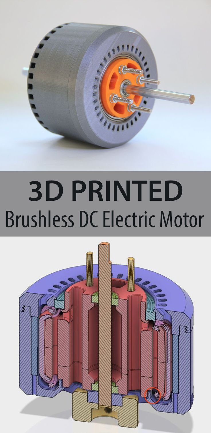 This 3d-printed brushless DC electric motor has 600 Watts, and performs with more than 80% efficiency!