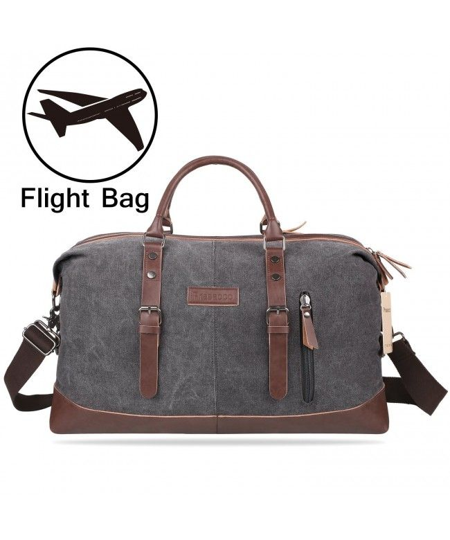 8f4782d072 Mens Duffel Bag Vintage Weekender Bag Travel Duffel Bag Canvas Overnight Bag  - Gray - CA1839CO885  Bags  handbags  gifts  Style  Duffle Bags
