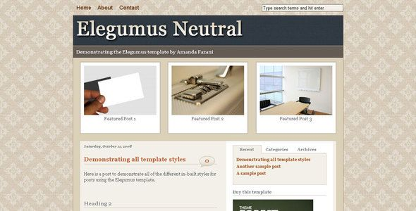 Elegumus Business Theme Package for Blogger