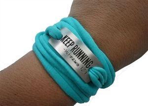 Keep running - sweat away bracelet - !1.99