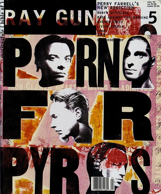 ray gun, issue 5, 1993: 'porno for pyros' - david carson, april 1993 [link to joe kral photostream on flickr]