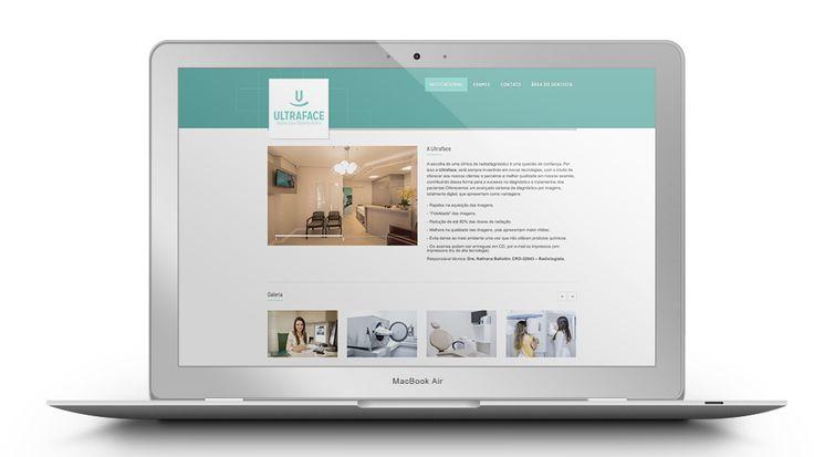 Design de interface e programação web do site www.ultraface.com.br