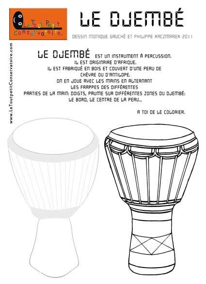 coloriage djembe