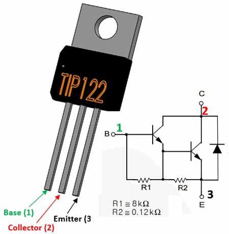 TIP122 Transistor Pinout