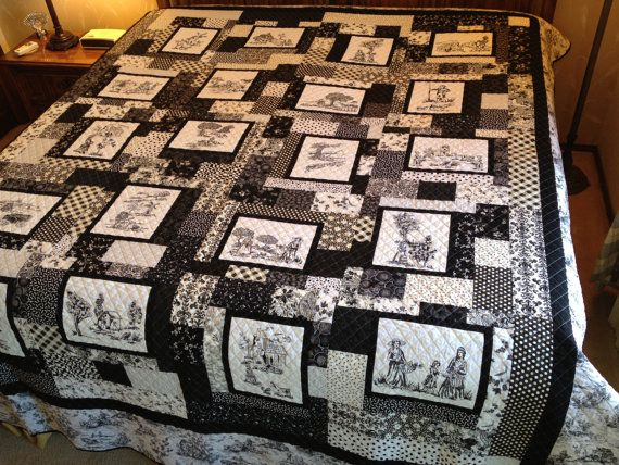 25 best Quilts - Toile fabrics images on Pinterest | Canvas, Board ... : toile quilting fabric - Adamdwight.com