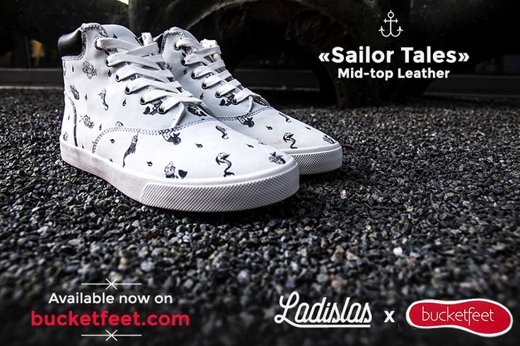"""Sailor Tales"" Mid-top sneakers by Ladislas Chachignot in collaboration with Bucketfeet.com"