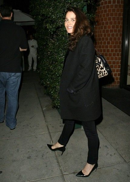 Robin Tunney Photos Photos - Celebrities dine out at Mr Chow Restaurant in Beverly Hills, California on January 23, 2015. <br /> Pictured: Robin Tunney - Celebrities Dine Out At Mr Chow Restaurant