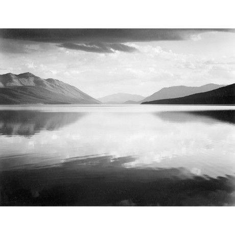 """Вечер, Макдональд озеро, Национальный парк Глейшер // Монтана, 1941 (16 """"Ш х 12,125"""" Н)"""