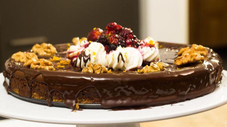 Donkere chocolade cheesecake met bosbessen | VTM Koken