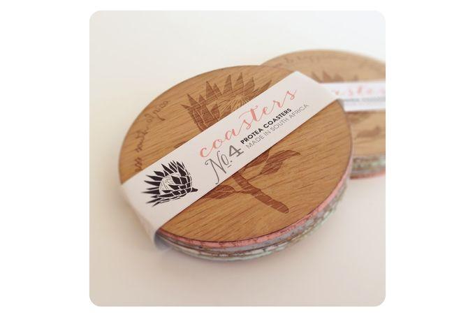 Protea Coasters by met Liefde