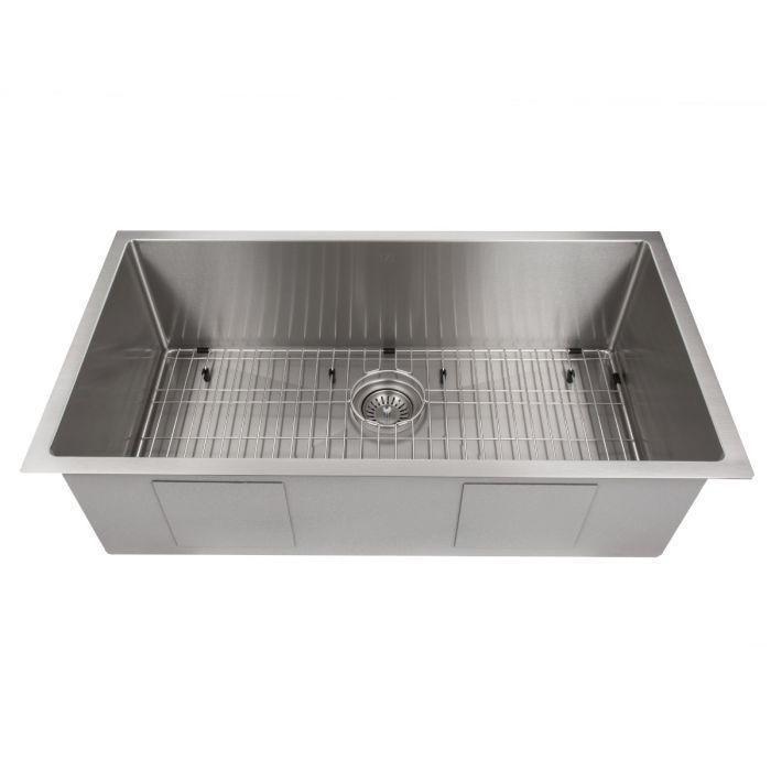 Zline Classic Series 36 Inch Undermount Single Bowl Sink In Stainless Steel Srs 36 Undermount Kitchen Sinks Apron Sink Kitchen Farmhouse Apron Kitchen Sinks