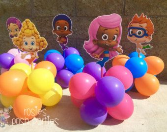 Bubble Guppies centerpiece Wood handcrafted by RosiesPoshParties