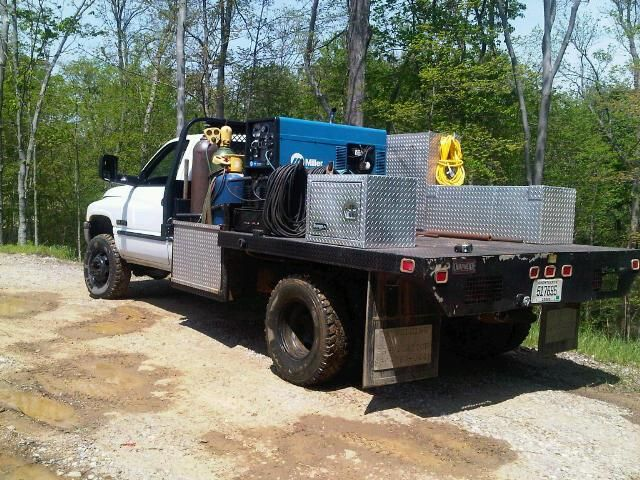 how to set up a welding rig truck
