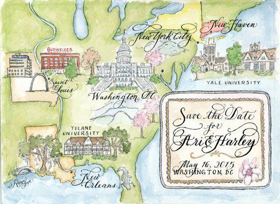 Watercolor Wedding Map Diy Print At Home Or Order Prints Map