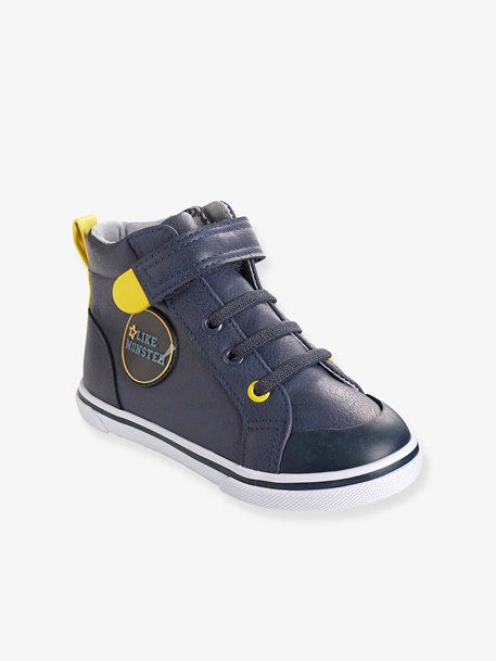 56e564d94901 Boys  Leather High-Top Trainers