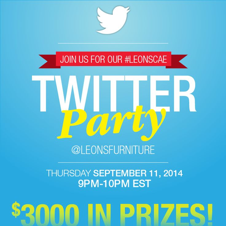 Twitter Party Over $3000 in prizing
