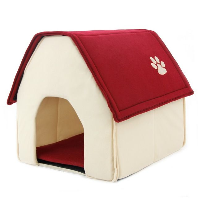【 $9.43 & Free Shipping / Coupons 】Dogs Bed Cama Para Cachorro Soft House Daily Products Pets Cats Home Shape | Buying & Reviews on AliExpress