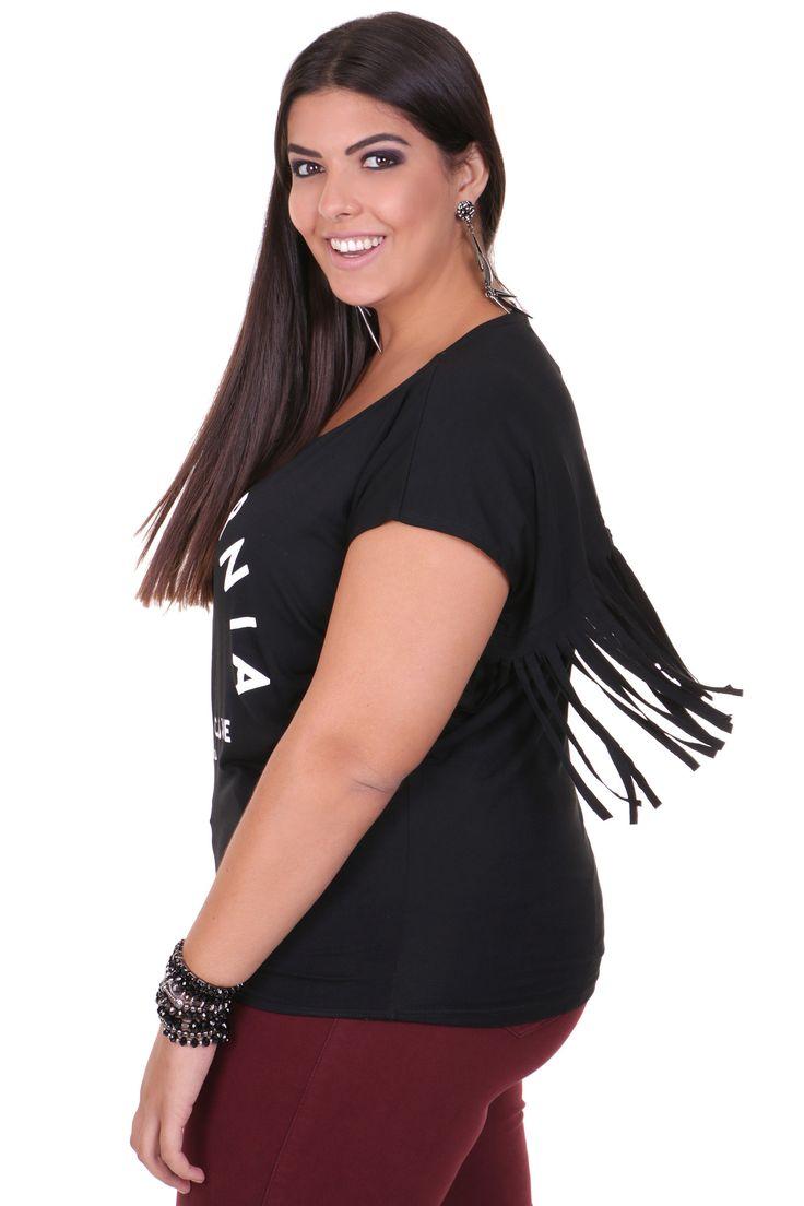 T -Shirt com silk Plus size