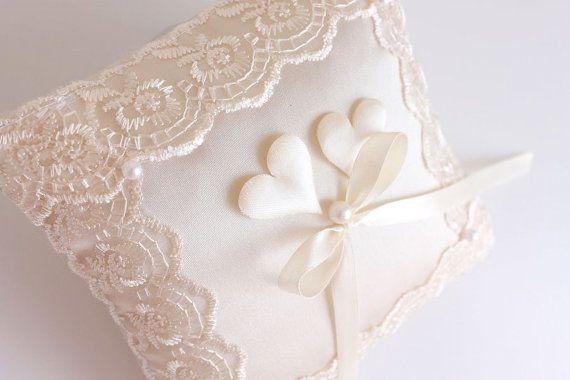 beige ring bearer pillow, beige ring bearer, beige wedding ring holder, beige wedding ring pillow, beige ring pillow, ivory ring pillow