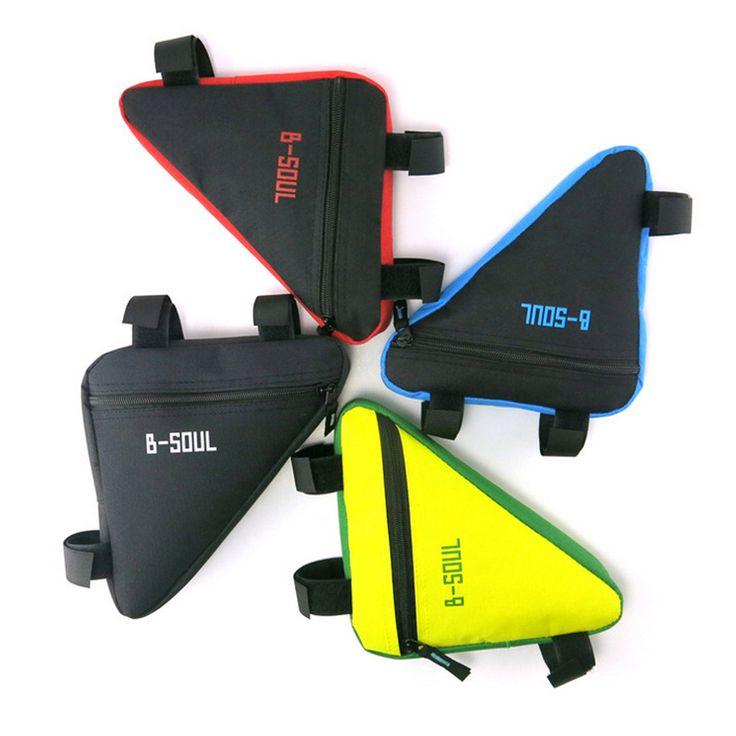 4 Colors Waterproof Triangle Cycling Bicycle Bags Front Tube Frame Bag Mountain Bike Triangle Pouch Frame Holder Saddle Bag New * En savoir plus en cliquant sur le bouton de VISITE
