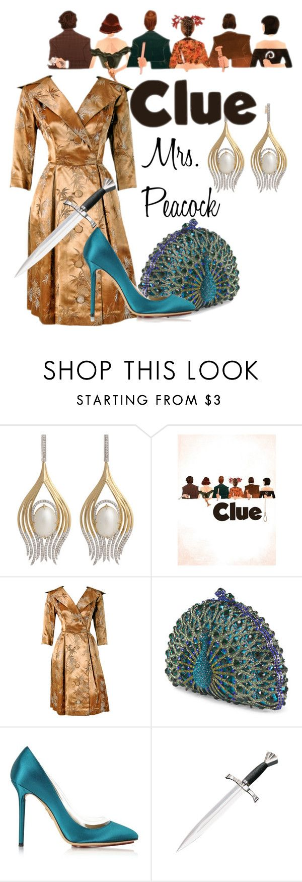 """Mrs. Peacock from Clue"" by laniocracy ❤ liked on Polyvore featuring Ana Khouri and Charlotte Olympia                                                                                                                                                                                 More"
