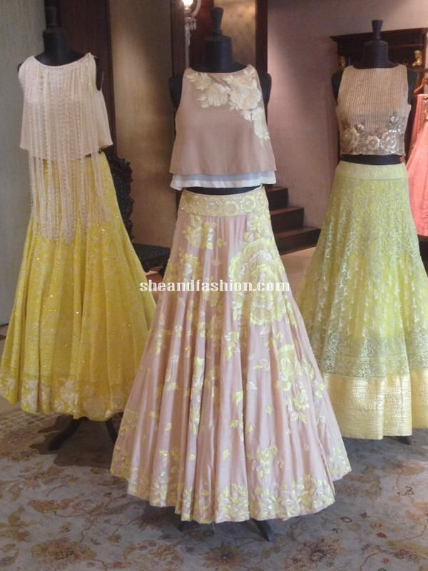 Fashion Designer Manish Malhotra Yellow Lehenga Designs