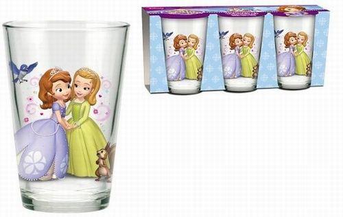 BRUMLA.CZ – Značkový dětský a dospělý second hand a outlet, použité oděvy pro děti a dospělé - Nové - 3x sklenička se Sofií zn. Disney
