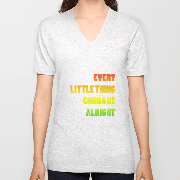 V shirt every little thing is gonna b alright reggae music, bob marley  Camiseta, música reggae