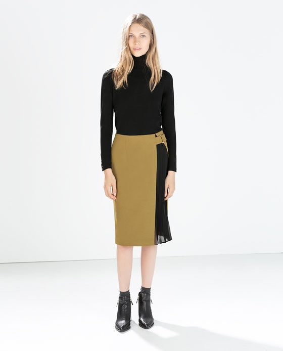 SKIRT WITH SIDE PLEATS from Zara